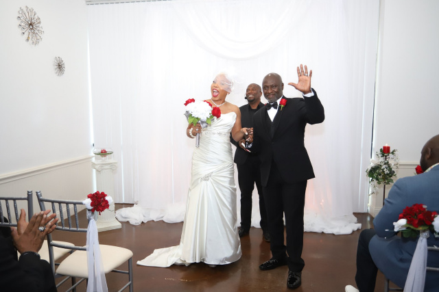 MonaLisa and Gary's wedding, hosted at Eventfully Yours Special Events Venue in North Richland Hills, TX in 2019.